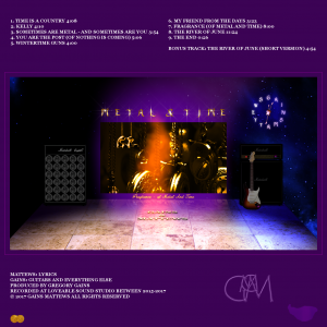 Back Cover Metal & Time